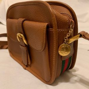 Gucci Vintage Leather Crossbody Purse